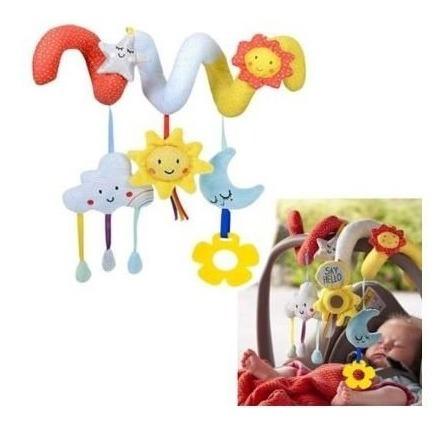 Mobile Multiuso Chocalho Bebês Espiral Berço Colorido Menina