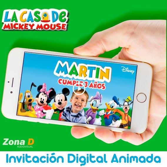 Invitación Digital Animada De Mickey Mouse