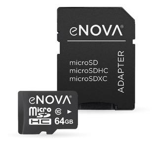 Tarjeta De Memoria Micro Sd 64gb Enova Clase 10