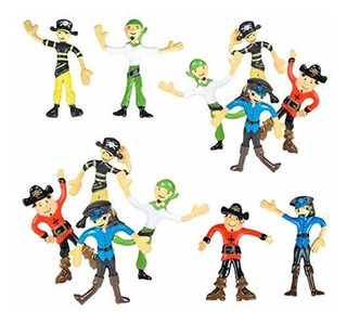 Bendable Pirates 12 Pack Of 3.75 Pulgadas Rubbery Pirates S