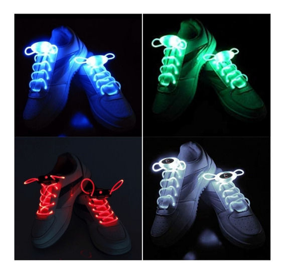 Cordones Led Para Zapatillas Luminosos Vs. Colores Cotillon