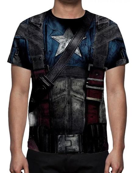 Camisa, Camiseta Uniforme Capitão América