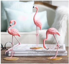 Flamingos Estatuas Decoração Em Resina