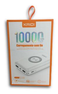 Carregador Portátil Powerbank Sem Fio Kaidi Kd-230 Original