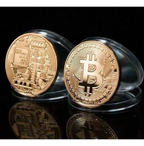 20x Moeda Fisica Bitcoin Detalhes Relevo Coleçao (original)