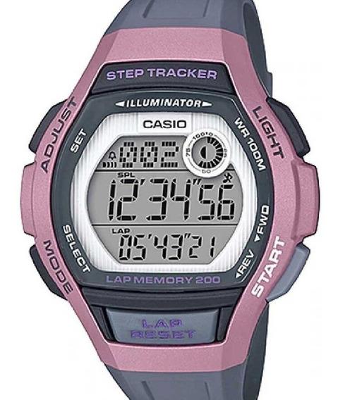Relógio Casio Feminino Digital Step Tracker Rosa
