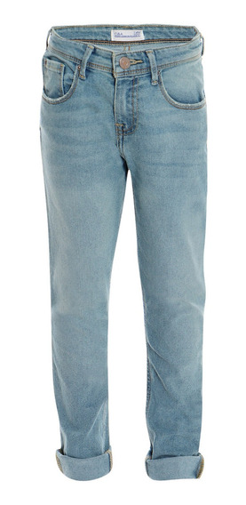 Jeans Corte Slim Stretch De Niños C&a Básicos