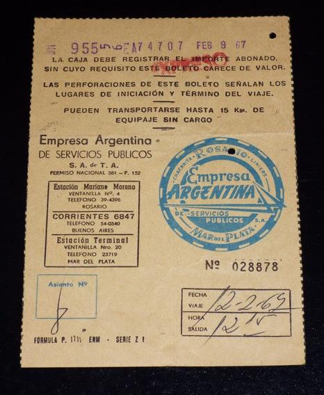 Boleto Omnibus Colectivo Año1967