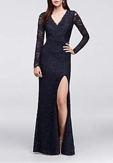 Vestido Longo Com Fenda Renda ,madrinha , Casamento # Vl181