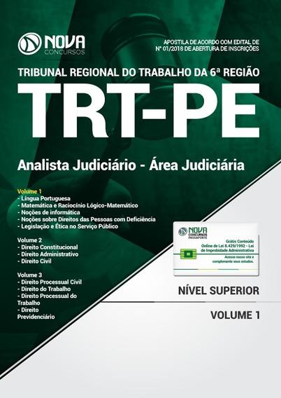 Apostila Trt-pe 2018 - Analista Judiciário - Área Judiciária