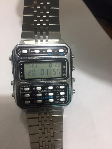 Relogio Casio Data Bank Cd-401 Anos 80 Raro Original