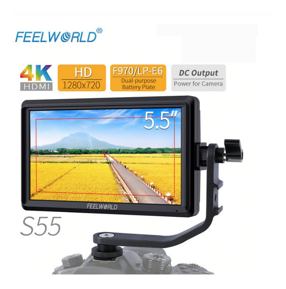 Monitor Feelworld S55 4k Videoassist P/ Dslr Sony Canon