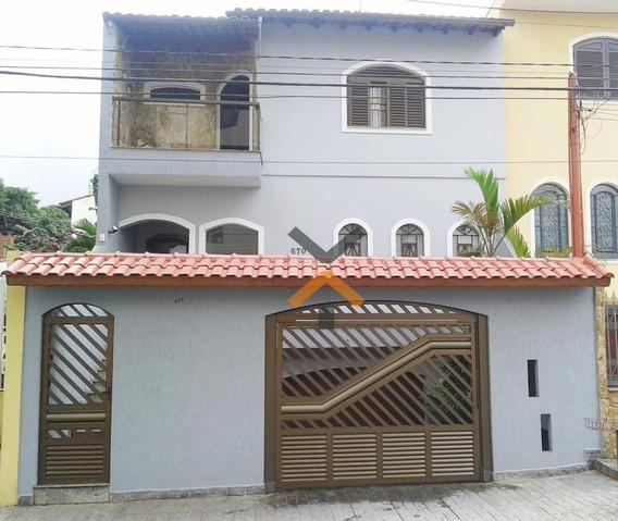 Sobrado Com 4 Dormitórios Para Alugar, 800 M² Por R$ 3.700/mês - Vila Valparaíso - Santo André/sp - So0004