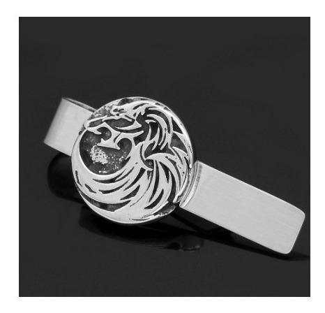 Pisacorbata Vikingo Amuleto Lobo Hombre Clip De Corbatas
