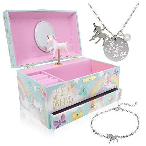 Caja De Música Para Niña De Unicornio