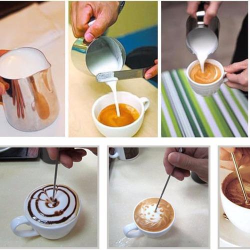 Pincel Barista Para Arte Latte Acero Inoxable (2 Und) !!!!