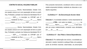 Modelo De Contrato Social De Holding Patrimonial Familiar