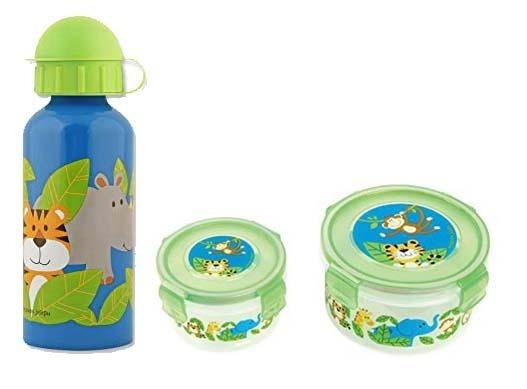 Garrafa Térmica E Kit Com 2 Snacks Zoo - Stephen Joseph