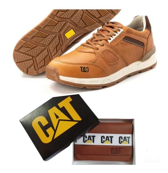 Promoção Kit Tênis E Carteira Caterpillar Woodward Cats 2019