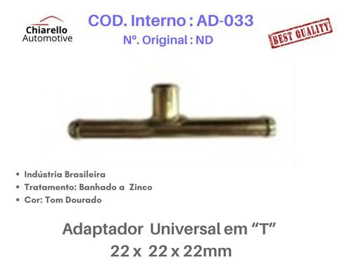 Adaptador Universal Em T Para Mangueira  22 X 22 X 22mm