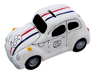 Alcancia Decorativa De Cerámica Diseño Auto Escarabajo
