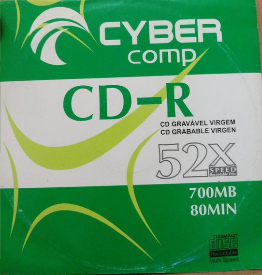 100 Cd R Cyber 52x 700mb Com Logo Já Envelopado De Fabrica