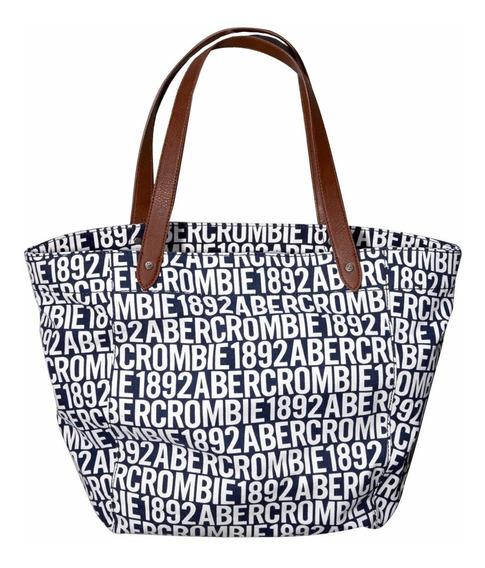 Bolsa Abercrombie & Fitch Azul Logo100% Original Lançamento
