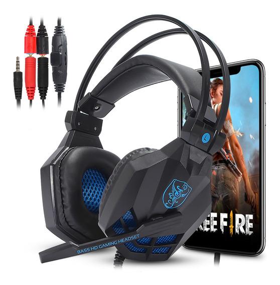 Fone Gamer Para Celular Free Fire Fortnite Pugb Discord