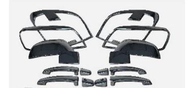 Imagen 1 de 2 de Cromos De Lujo Para Chevrolet Captiva 2007/08 En Abs Tunning
