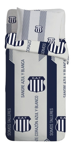 Cubrecama Cover Casablanca Talleres 1 1/2 Pl Frases Ct Mmk