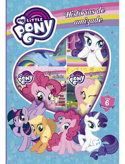 My Little Pony Histórias De Amizade Box 6 Minilivro Frete 10