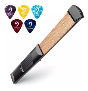Vangoa Portátil Mini 6 Traste Pocket Guitar Acorde Traine