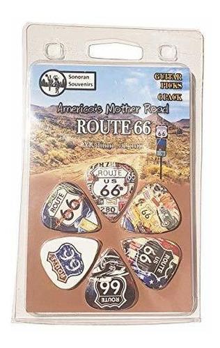 Route 66 Arizona Souvenir Gift Guitar Picks 6 Pack Medium 0.