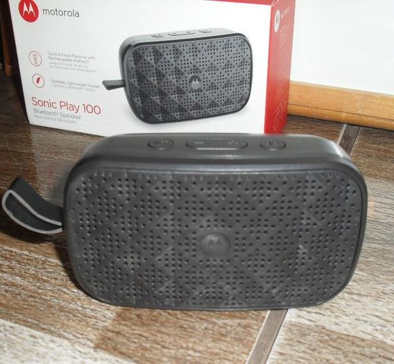 Caixa De Som Bluetooth Motorola Sonic Play 100
