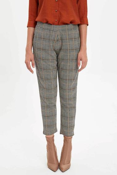 Pantalones C/cintura Elástica Defacto Con Patrón Para Mujer