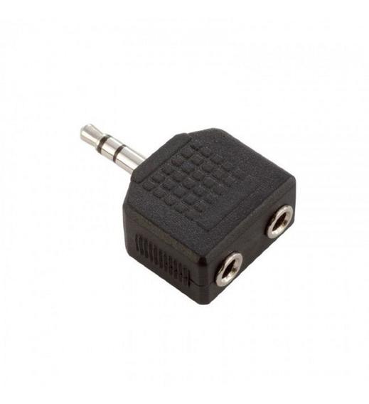Adaptador Miniplug 3,5 Mm Stereo A 2 Miniplug Hembra 3,5 Mm