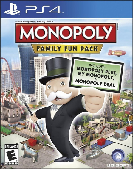 Game Ps4 Monopoly Family Fun Pack - Original Novo Lacrado