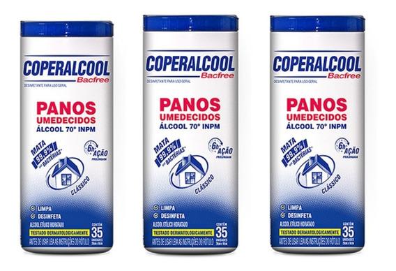 Kit C/3potes-panos Umedecidos Bacfree 70 Inpm