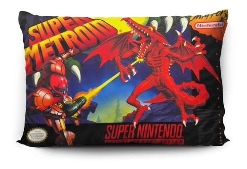 Funda De Almohada Super Metroid 70x45cm Vudú Love