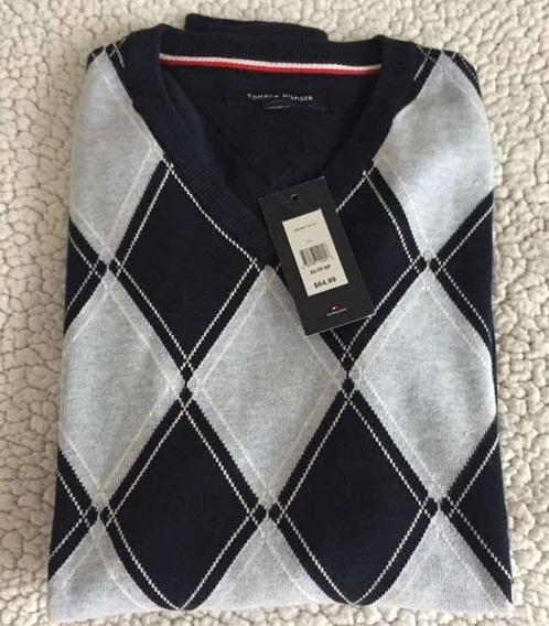 Sweater De Hombre Azul Tommy Talla Xs Y S