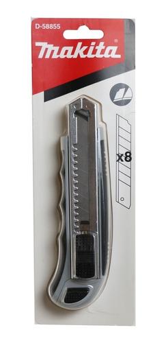 Imagen 1 de 6 de Cúter Makita Automático 8 Hojas Repuesto Metal Alta Calidad