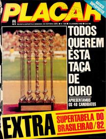 Revista Digitalizada Placar Guia Brasileiro 1982 + 2 Álbuns