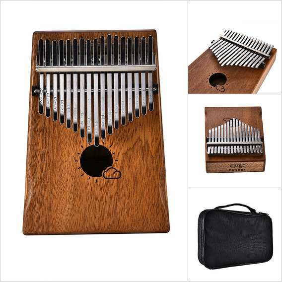 Muspor 17 Chave Kalimba Mbira Mogno Africano Polegar Piano