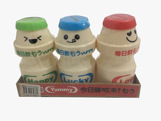 3 Cofres Yakult - Happy - Lucky - Lovelly