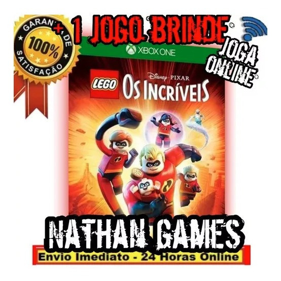 Lego Os Incríveis Xbox One Mídia Digital + 1 Jogo Grátis