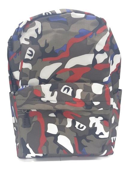 Mochila Diseño Camuflaje Militar Deportiva Urbana Moderna
