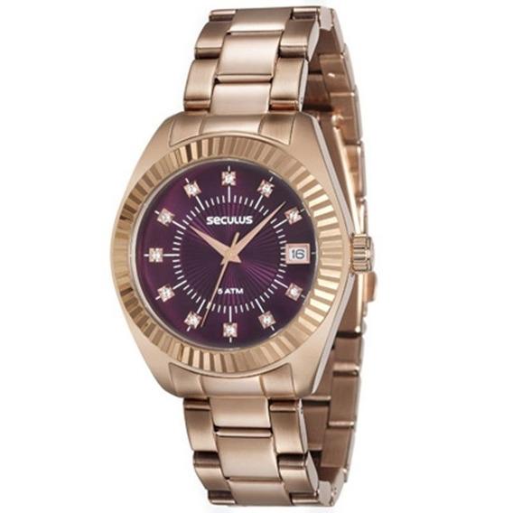 Relógio Seculus Feminino 13019lpsvrs2