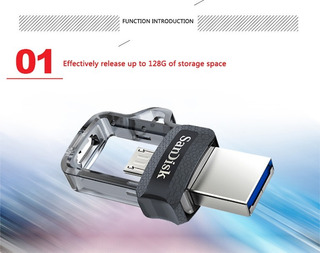 Sandisk Extreme Usb 3.0 Dupla Otg Micro Usb 32gb Flash Drive