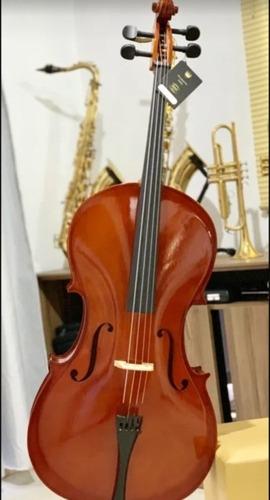 Imagem 1 de 7 de Violoncelo 4/4 Jahnke Maple Top-  Original
