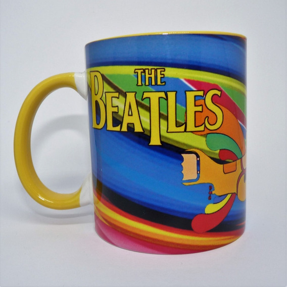 Caneca Beatles Yellow Submarine Rock Cafe Xicara